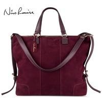 Women Real Split Suede Leather Shoulder Tote Bag Fashion Female Large Leisure Nubuck Casual Handbag Travelling Top handle Bags