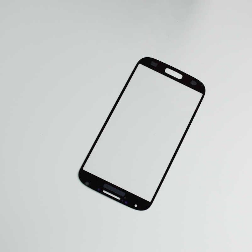 """5.0 """"لسامسونج ل غالاكسي S4 i9500 i9505 i337 زجاج الشاشة الأمامية عدسة الخارجي غطاء استبدال 5.0"""" لسامسونج S4 الزجاج الأمامي"""