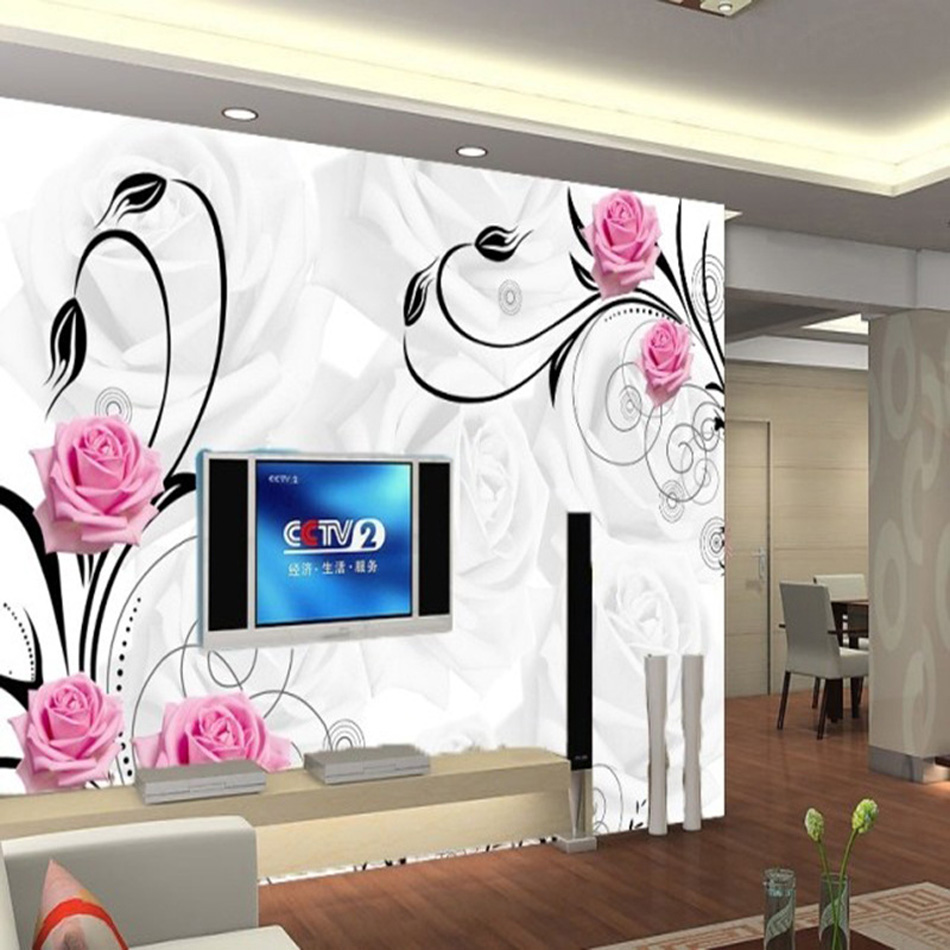Wall Papers 3d Home Decor Murals Industrial Glitter Wallpaper Wallpapers For Living Room Kids Papel De Parede Floral Flower