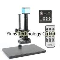 16MP 1080P HDMI USB Video Microscope Camera Kit +180X / 300X C Bayonet Lens +144 LED Ring Light for Laboratory PCB Repair