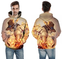Fashion Sweatshirts NEW Men/women Tracksuits Tops Print 3D Hooded Anime One Piece AS Hoodies Thin Autumn Sweatshirts wholesale