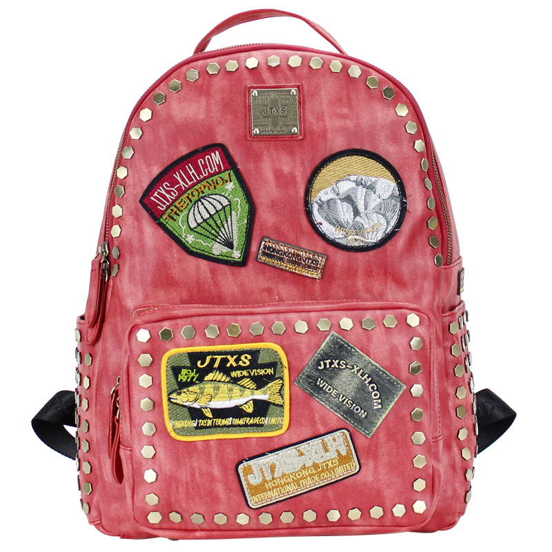 Women's backpack,wild rivet bag,Street fashion rucksack,New personalized bale, Couple Party Outdoor Boutique bundle 1