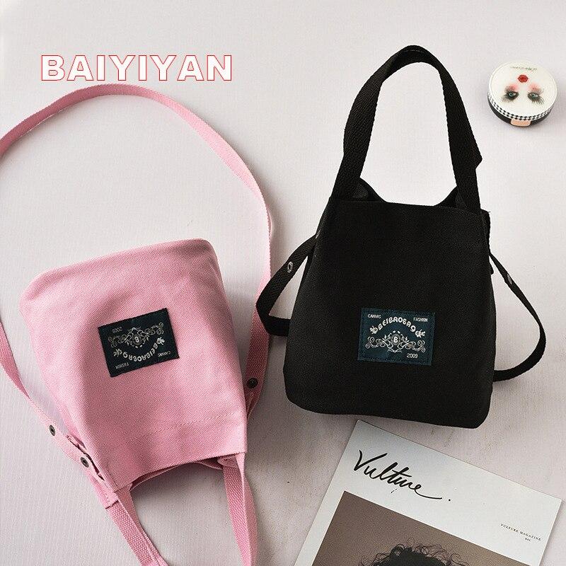 Fashion Lady Canvas Mini single shoulder bag Crossbody Messenger bag women Leisure bag Female shopping bags Bucket Handbag
