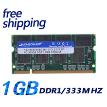 KEMBONA Factory supply sodimm ddr1 1gb 333 ram memory module, high quality original chips for laptop