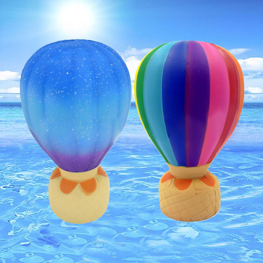 Kawaii Soft Squishy Simulation Hot-air Balloon Toys Slow Rising for Child Kids Adult Antiestress