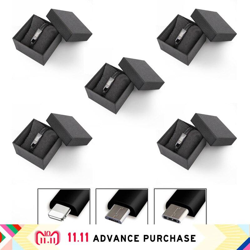 5 pièces de données de câble usb Chargeur de ligne pour iphone recharge iphone 5 huawei 5 S 8 xiaomi plus x xs max oppo mi 8 p20 adaptateur pro type c