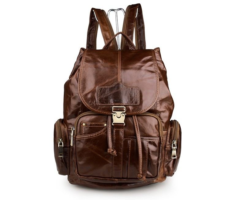 High Quality Vintage Brown Genuine Leather Mens Backpacks Cowhide Female Women Backpack For Girl Men Travel Bags M7287High Quality Vintage Brown Genuine Leather Mens Backpacks Cowhide Female Women Backpack For Girl Men Travel Bags M7287