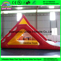 0.9 мм ПВХ аквапарк горки для продажи, надувные плавающие водные горки Треугольник Надувной Водной Горкой С Лестницей аквапарки