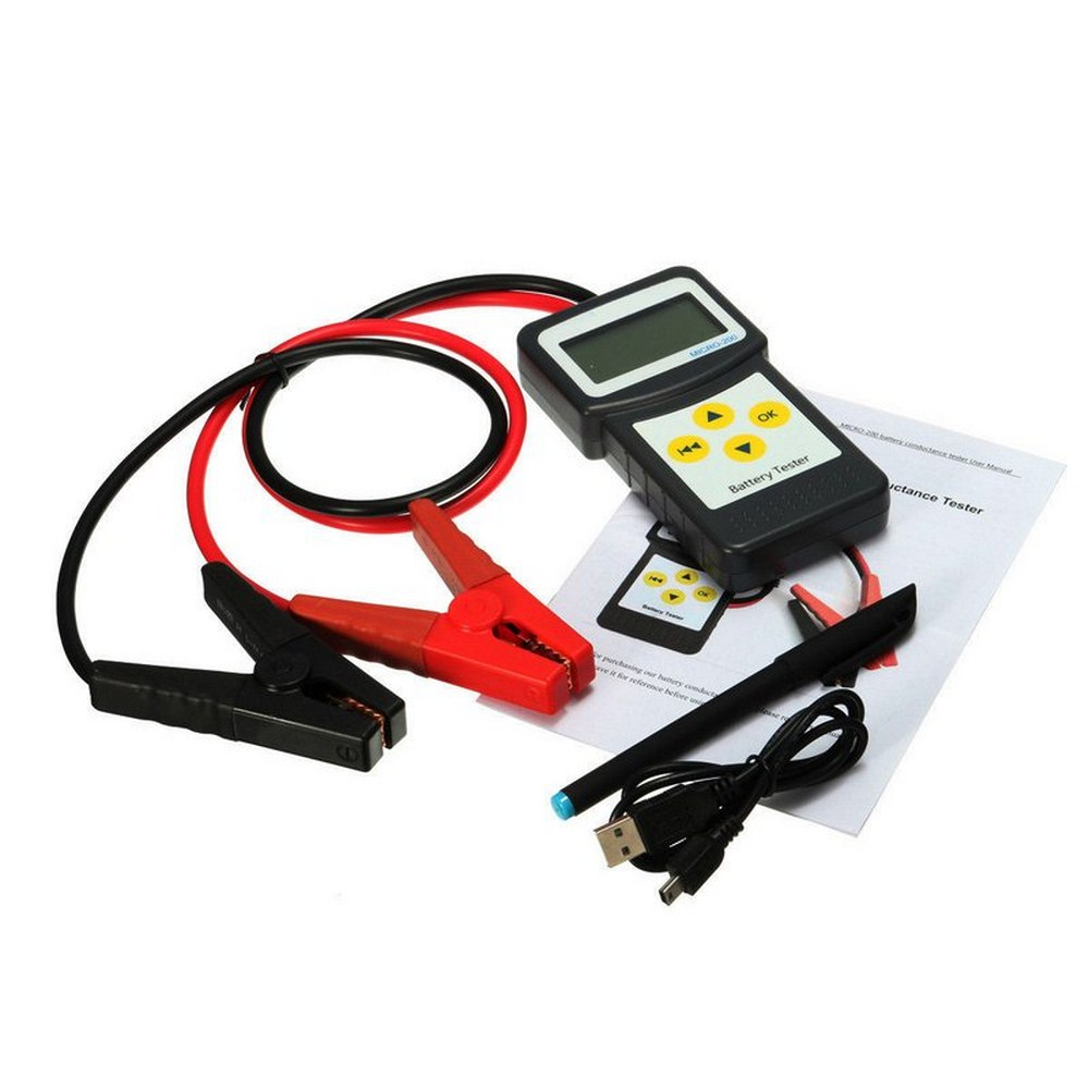 MICRO-200 battery tester lead-acid starter 12V Aumotive battery capacity tester With Inside Print CCA Car Battery Tester Analyzer  (1)
