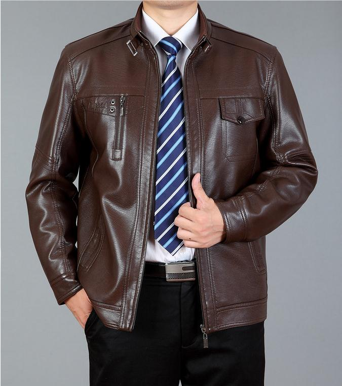 Fashion Mens Leather Jackets And Coats Suit Collar Leather Jackets Men Slim Clothing Soft Faux Leather Clothes For Man