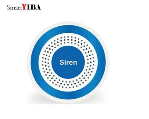 SmartYIBA Wireless Blue Siren Wireless Flashing Siren for YB103/YB104 Alarm System, Wireless Indoor Alarm Siren Strobe Siren smartyiba wireless blue siren wireless flashing siren for yb103 yb104 alarm system wireless indoor alarm siren strobe siren