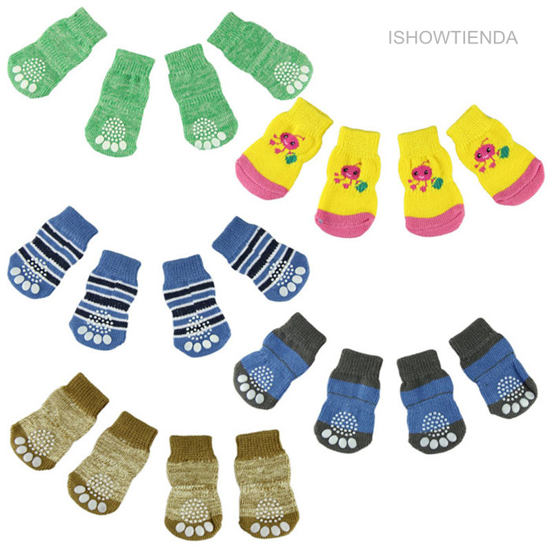 ISHOWTIENDA New Candy Color Dog Socks Sweet And Soft For Small Pet Dog Cat Drop Shipping And Wholesale Vovotrade