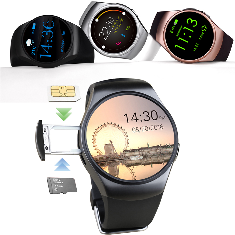 Smart Watch Heart Rate Monitor GSM SIM TF Bluetooth Sports Smartwatch Fitness Tracker for iOS Android Phone Women KW18 PK NO. G3 no 1 g3 smart watch android 4 4 circular 1 3 bluetooth sim gprs heart rate smartwatch for ios android phone with 8gb tf card