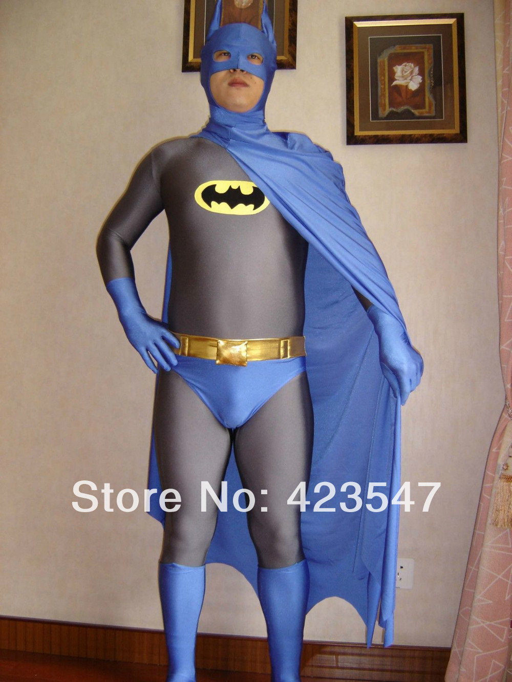 Navy Blue & Grey Batman Superhero Costume Halloween Carnival costumes play