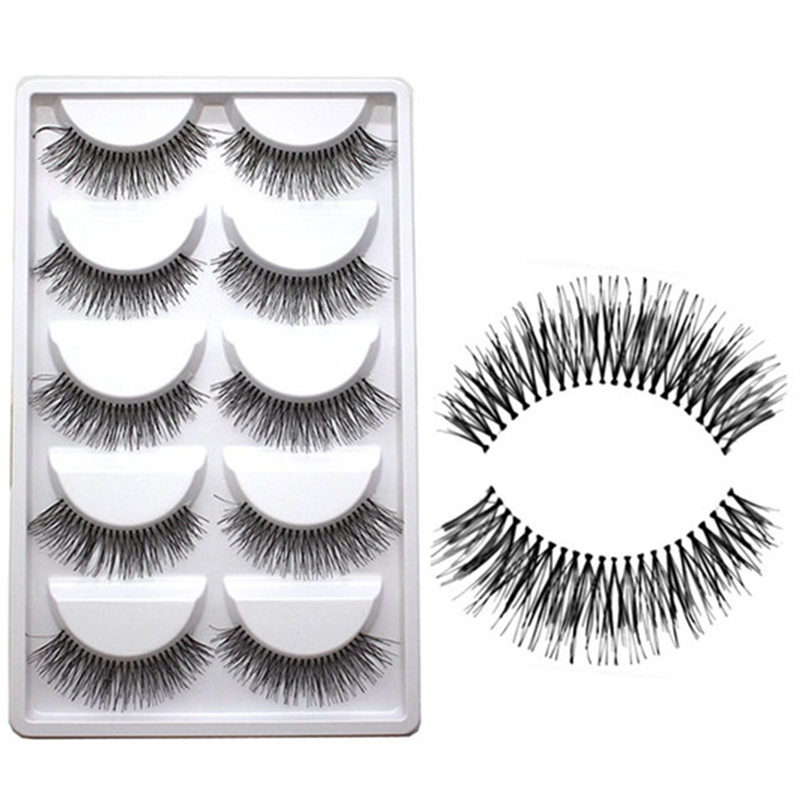 5pairs Soft Long Makeup Cross Thick False Eyelashes Eye Lashes Nautral Handmade Hot Sale A21 Bright In Colour