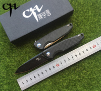CH 3004 New Original Design Folding Knife AUS 8 Blade Ceramic Ball Bearings TC4 Titanium Alloy