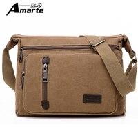 Amarte Brand Vintage Men S Messenger Bags Canvas Shoulder Bag Fashion Men Travel Crossbody Bag Bolsa