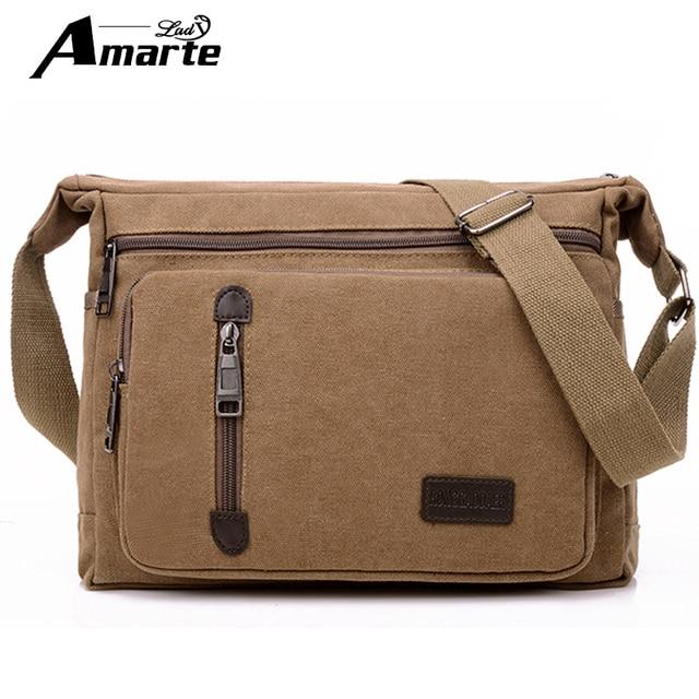 8b48d4d53316 Men Bags Vinatge Canvas Messenger Bags 2017 Designer Brand Men s Fashion  Crossbody Shoulder Bag Solid Male Casual Travel Bag