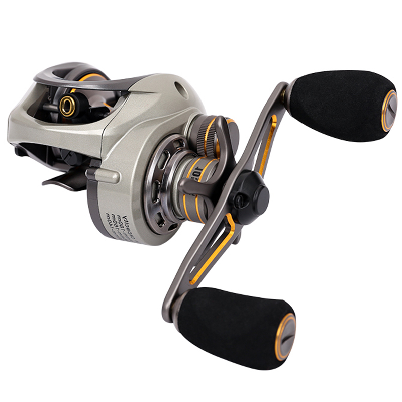 Trulinoya Baitcasting Fishing Reel Right/Left 6.6:1 9+1BB Max Drag 6KG Magnetic Centrifugal Dual Brake Bait Casting Fishing Reel 12 1bb left right hand bait casting fishing reel 6 3 1 baitcasting reel magnetic brake system fish wheel pesca lyw 013