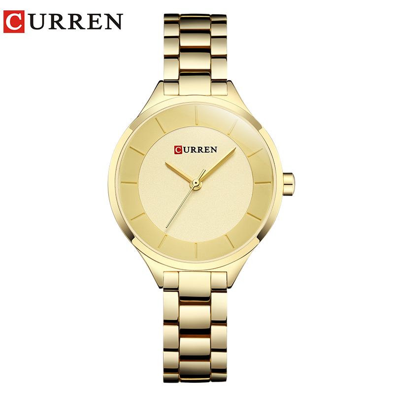 Ladies Watch Fashion Brand CURREN Female Clock Quartz Wrist Watch Full Steel Dress Hodinky  Montre Femme Relogio Feminino