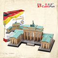 Educational toy 1pc CubicFun Germany's Brandenburg Gate city wall 3D paper DIY jigsaw puzzle famous model building kits gift toy