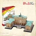Portão de Brandemburgo CubicFun brinquedo educativo 1 pc da Alemanha famosos da cidade papel de parede 3D jigsaw puzzle DIY kits modelo de construção brinquedo de presente