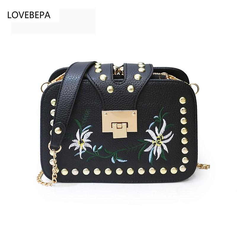 LOVEBEPA PU font b leather b font large shoulder bag female 2017