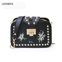LOVEBEPA PU leather large shoulder bag female 2017