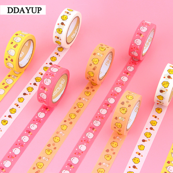 2Pcs/box 15mm*10m Package Cartoon Animals Washi Tape Excellent Quality Colorful Paper Tape Cute Animal Washi Masking Tape 2 4cm 50m washi tape excellent quality paper tape adhesive tape washi masking tape