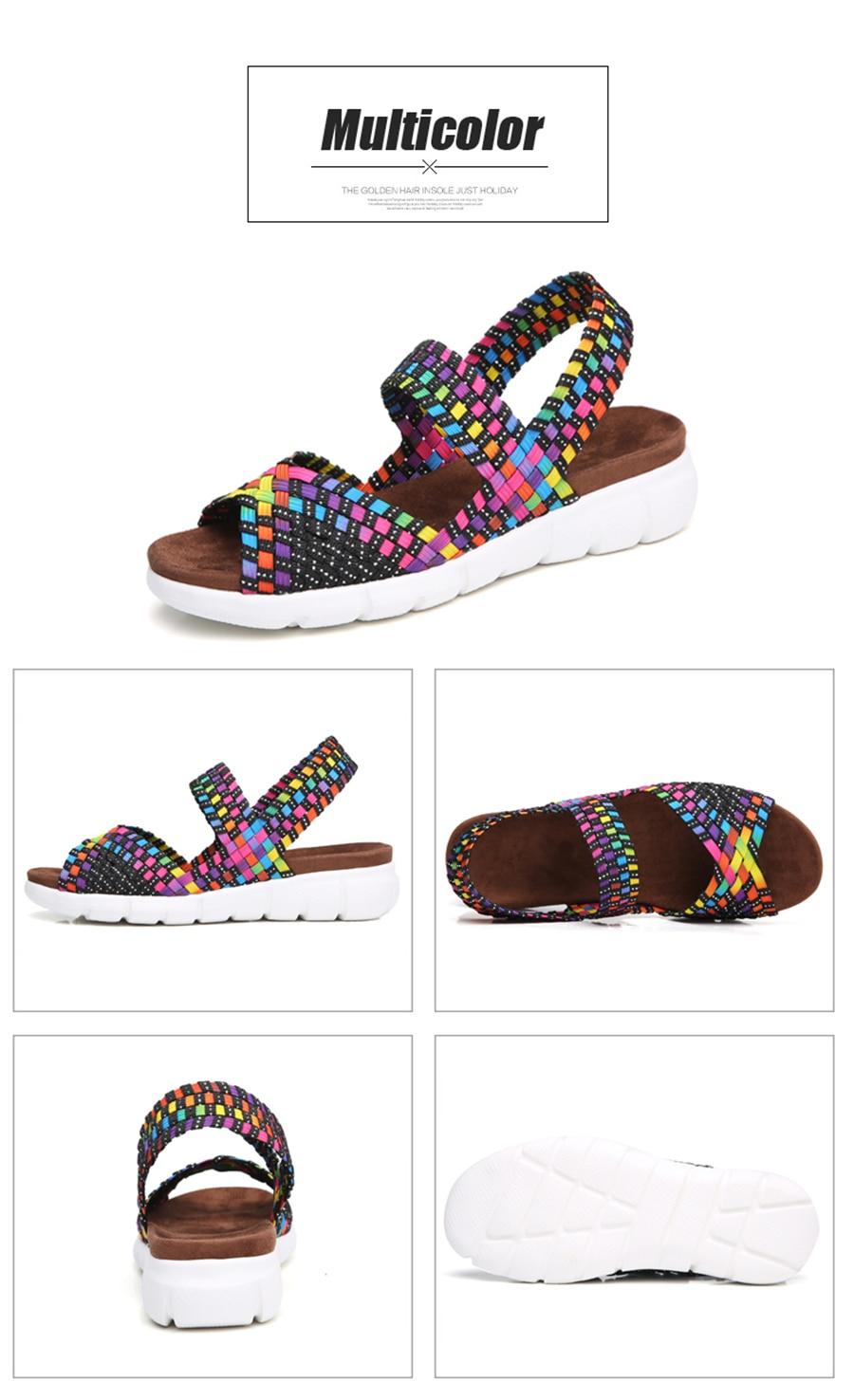 HTB1uM1EXnQspeRjt a0q6zPbFXay STQ 2019 women flat sandals shoes women woven wedge sandals ladies beach summer slingback sandals flipflops jelly shoes 803