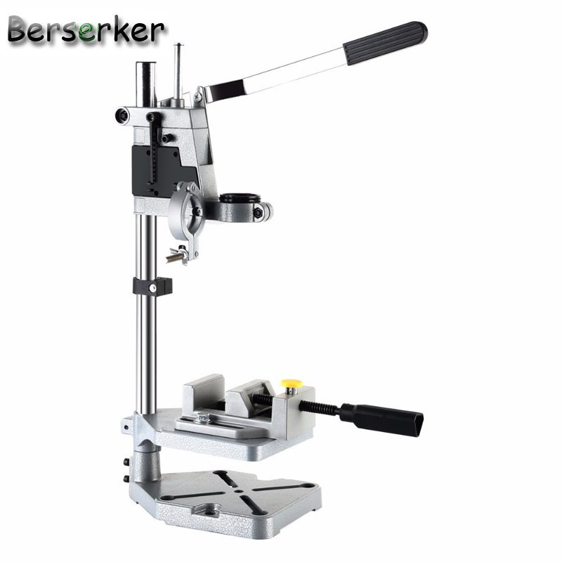 berserker electric drill bench repair tool stand mini drill chuck clamp with working table cast. Black Bedroom Furniture Sets. Home Design Ideas