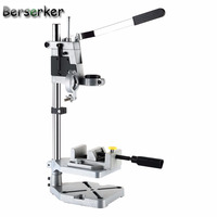 Berserker Electric Drill Bench Repair Tool Stand Mini Drill Stand Chuck Clamp with working table Cast iron bottom Free Shipping
