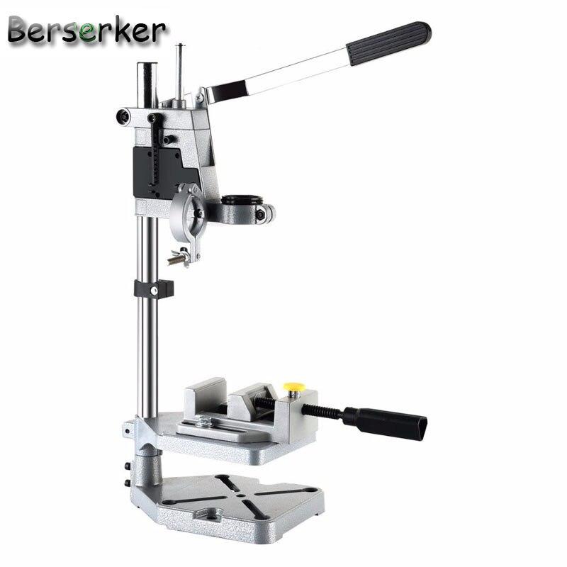 Berserker banc de perceuse électrique outil de réparation support Mini perceuse support mandrin pince avec table de travail fond en fonte livraison gratuite