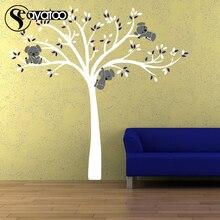 Cartoon Koala Bear Tree Vinyl Wall Sticker Decal Living Room Bedroom Nursery Kids Stickers 200x208cm