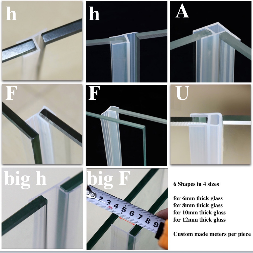 Weatherstrip Draft Stopper Glass Screen Sliding Sash Shower Door Window Balcony Seals Draught Excluder Silicone Strip odd