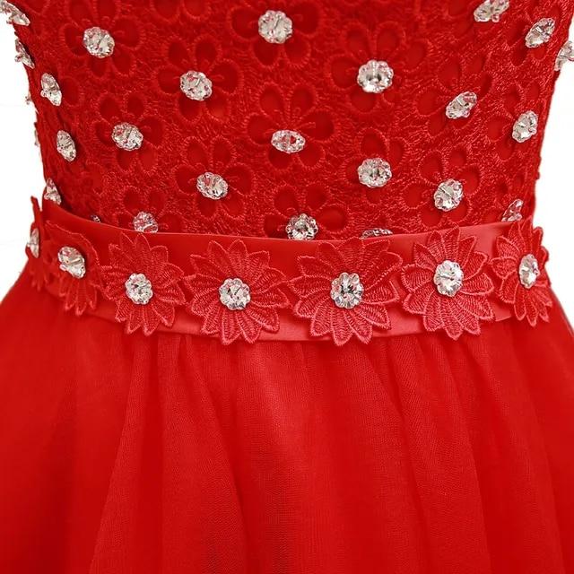 robe de soiree elegant red formal hi low one shoulder evening dress women short front long back dresses ball gowns USA W2090