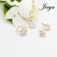 Heart Jewelry Sets Gold 585 Plated White Natural Stone Joias Ouro Wedding Accessories Ladies Jewelry Bridesmaid