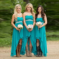 2016 Custom All Color and Size long back short front Purple Royal Blue bridesmaid dress cheap plue size
