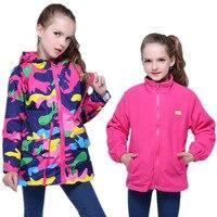 2pcs Girls Clothes Girl Jackets Children Coat Kids Spring Outerwear Teengers Camo Hooded Windbreaker Thin Waterproof