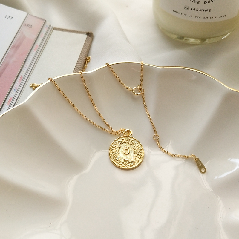 629f27c606c698 Dollar coin pendant necklace 925 sterling silver gold color round fashion  portrait coin necklace for women silver 925 jewelry -in Pendants from  Jewelry ...
