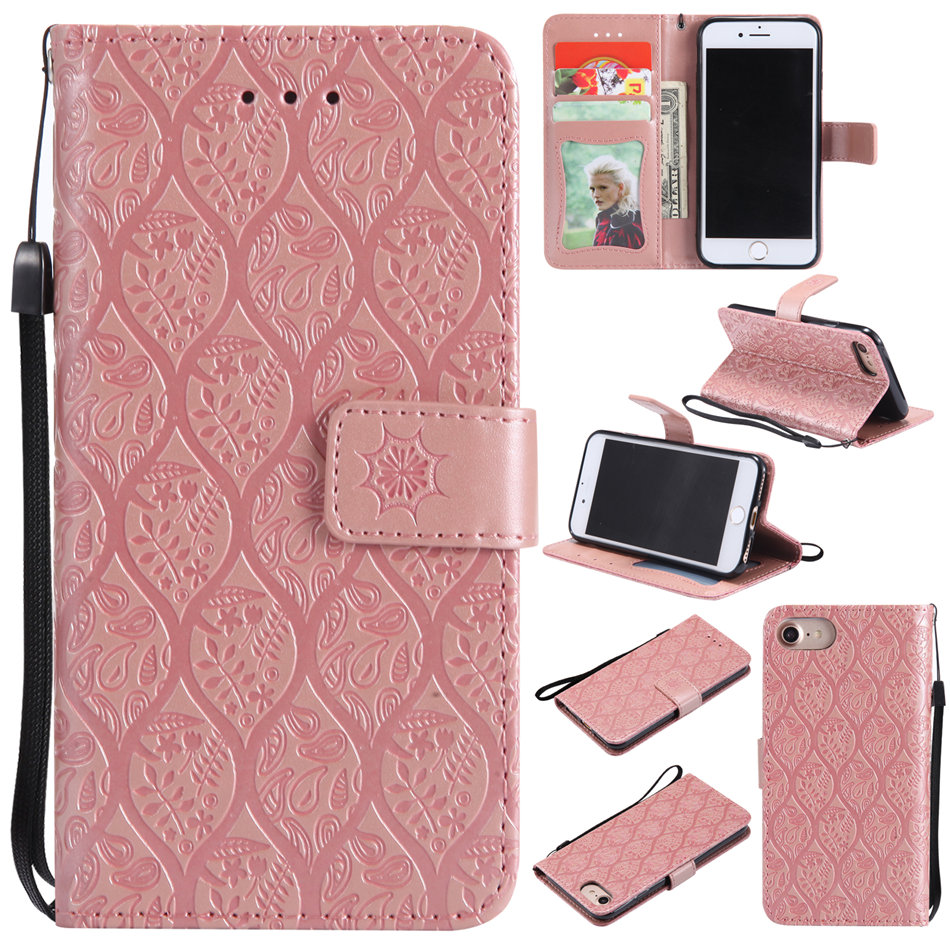 Card Slot Wallet Flip Fundas Leather Rattan Cases For Apple iphone X XR XS Max 8 7 6 6s Plus Solid Color Mobile Phone Cover P27Z