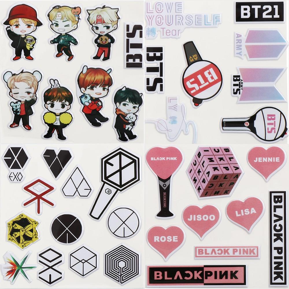 Aliexpress Buy 1Pcs Hot BTS Anime Sticker KPOP Bangtan Boys