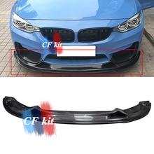 CF комплект R стиль для BMW F80 M3 F82 M4 карбоновое волокно передний бампер для губ разветвитель- автомобильный Стайлинг