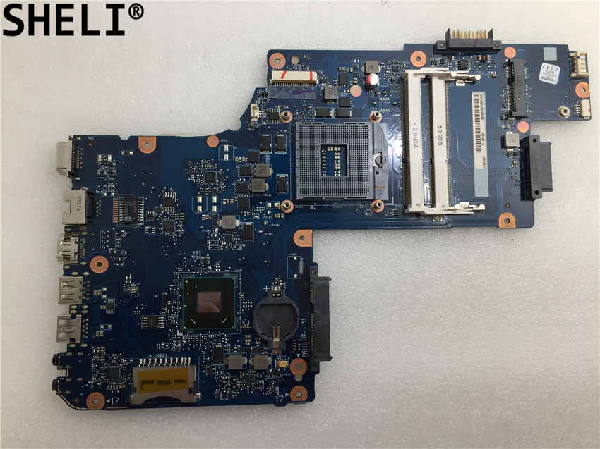 SHELI For Toshiba Satellite C850 L850 C50 GM HM 77 Laptop Motherboard H000061920 free shipping laptop motherboard with vga chipsets for toshiba c50 h000062040