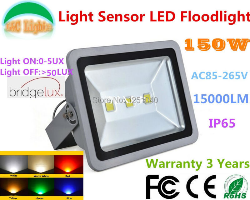 150W Light Sensor Control Floodlight,Can be Auto ON and OFF,3*50W LED Waterproof Cast Light ,IP65 Outdoor Spotlight  2PCs a Lot be 4r5000pg6dc sensor mr li
