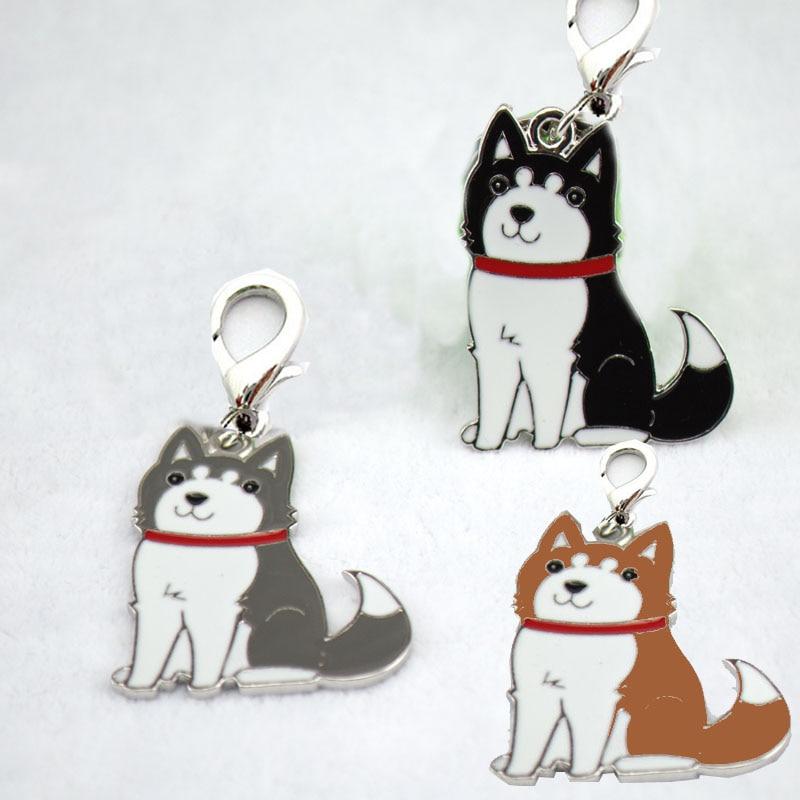 10 pcs/lot DIY Charm Germany Shepherd Keychain On Bag Pet Dogs Pendant Bulldog Keyring Pet Dog Tag Cat Dog Accessories