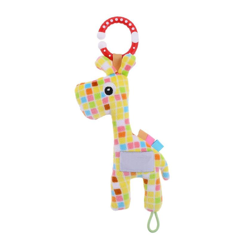 Newborn Baby Toys Boy Girl Cute Cotton Rattles Giraffe Hand Bells Baby Musical Shaking Toys Rattle Ring Plush Toy