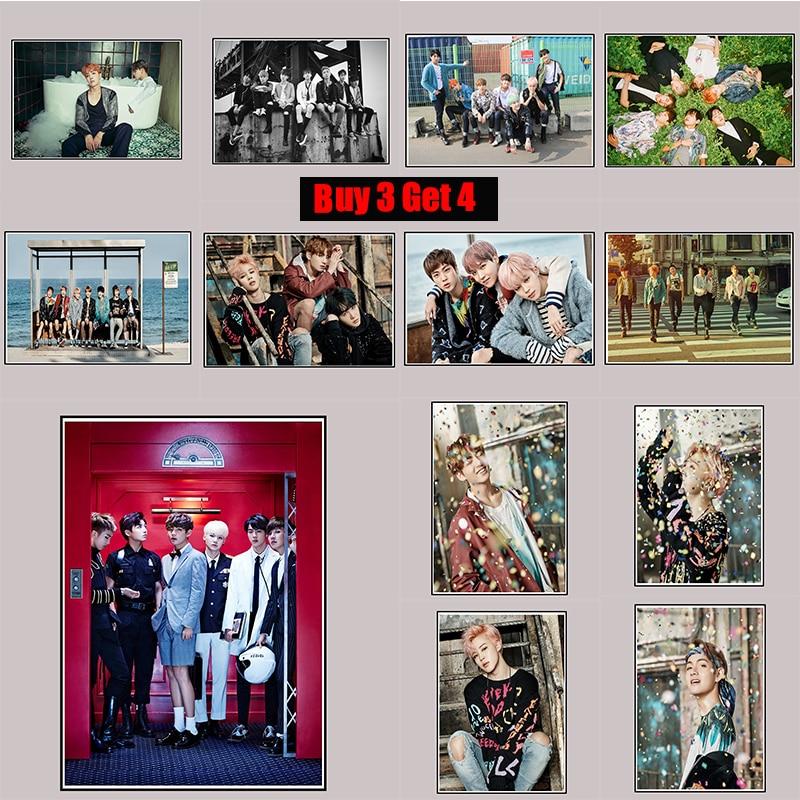 BTS Posters Clear Image Nálepky na stěnu Home Decoration Vysoká - Dekorace interiéru