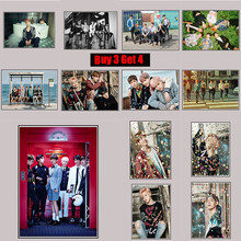 BTS Posters Clear Image Wall Stickers Home Decoration High Quality Prints RM Jimin Jin Coated Paper(China)
