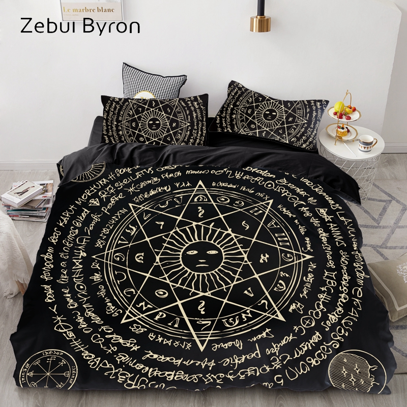 3D Duvet Cover Set Queen/King/Europe/Custom,luxury Bedding Set,Quilt/Blanket Cover Set,Bedclothes Retro Octagonal Star,drop Ship